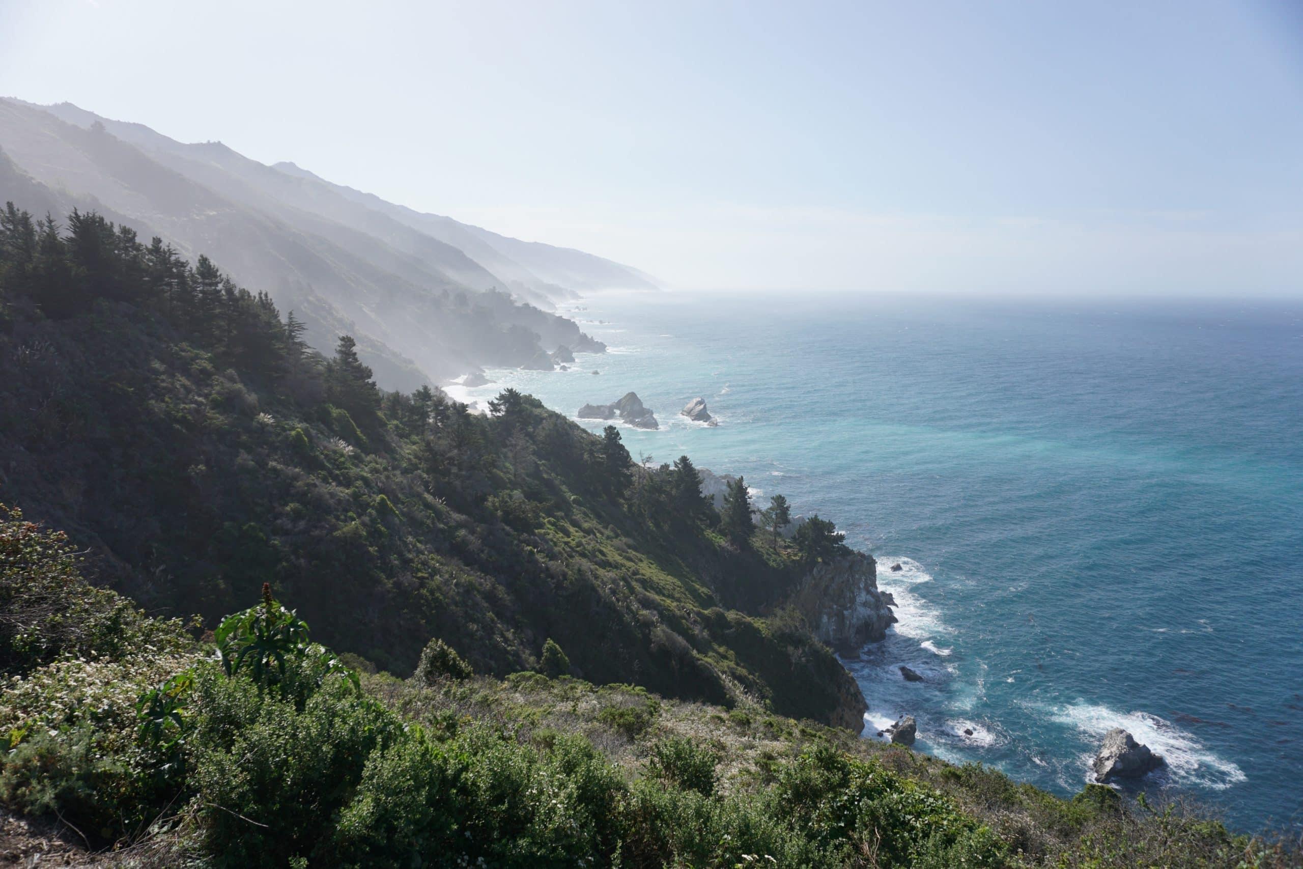 Big Sur cliffside in California