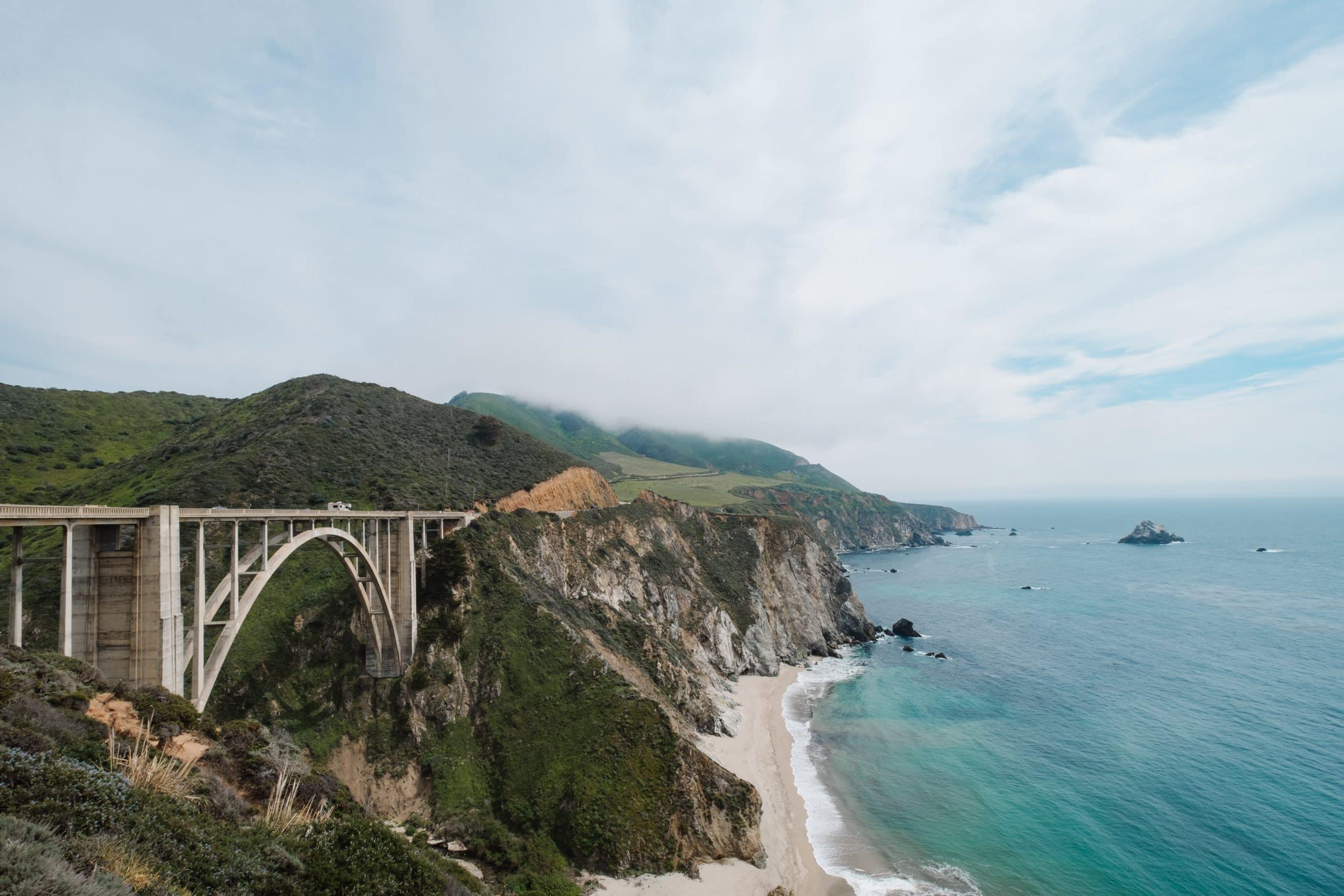 The Big Sur bridge in California.