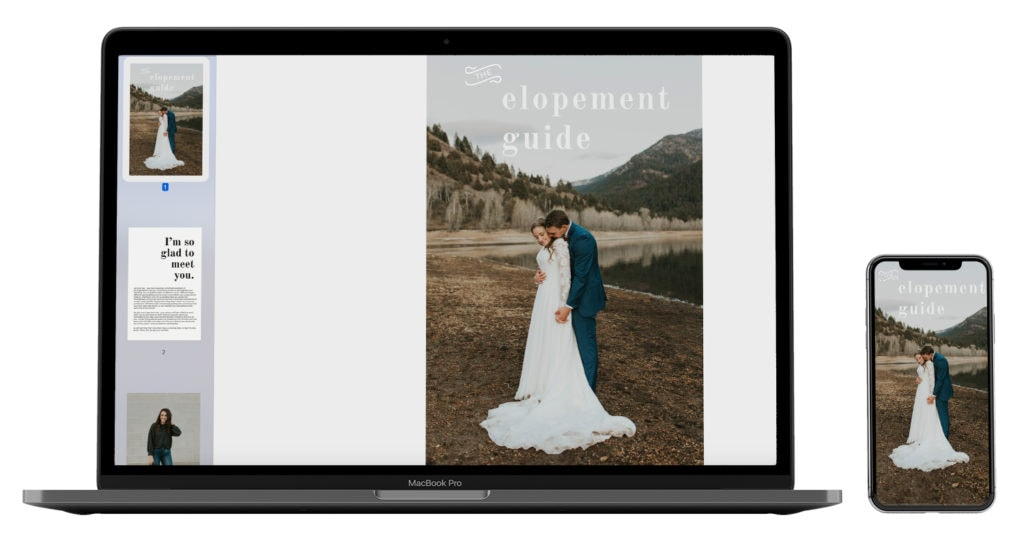 A free guide all about how to elope, created by a California elopement photographer.