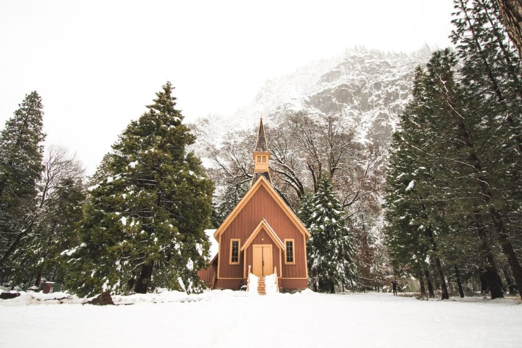 Yosemite Chapel, a wedding venue in Yosemite National Park.