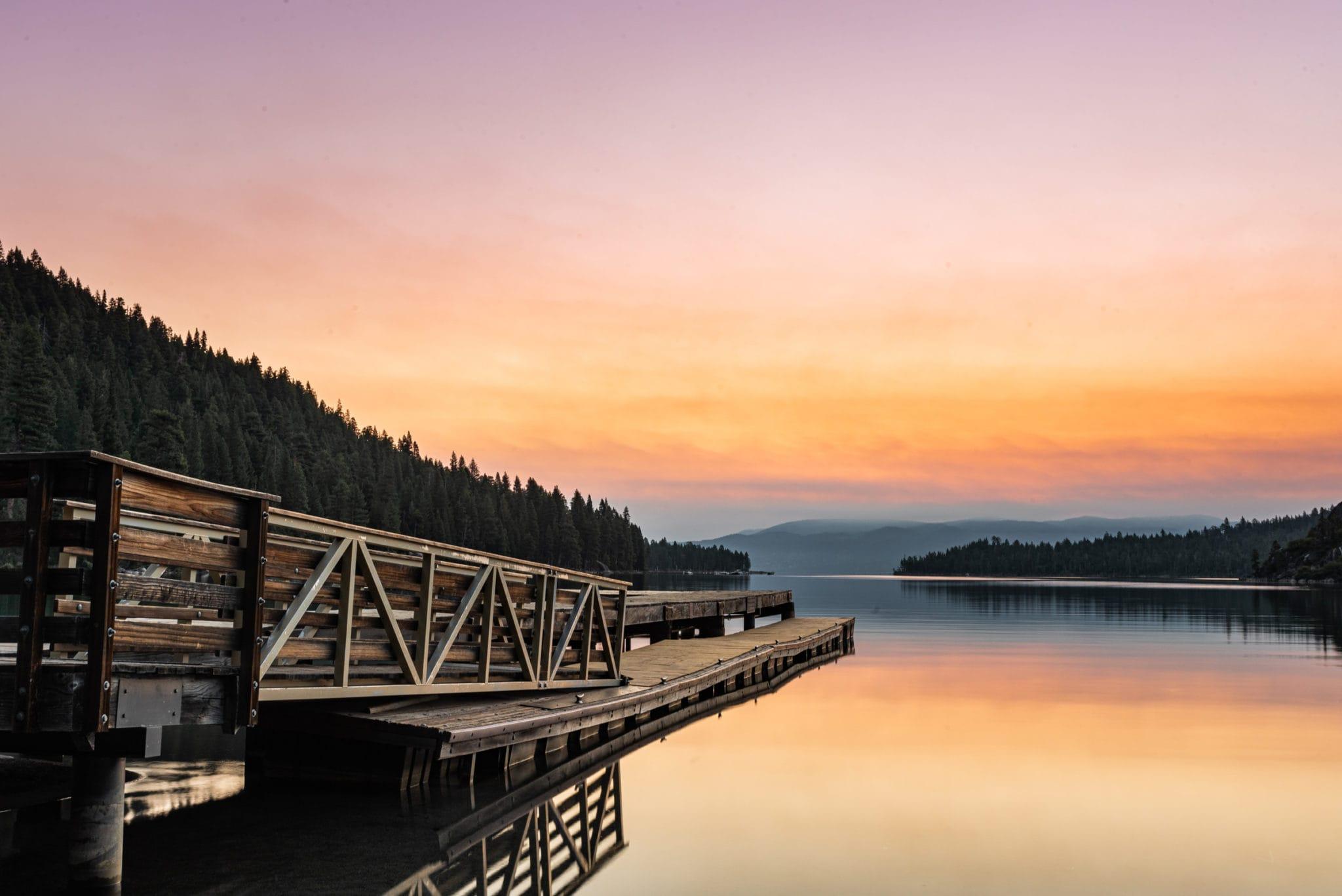 The Lake Tahoe pier.