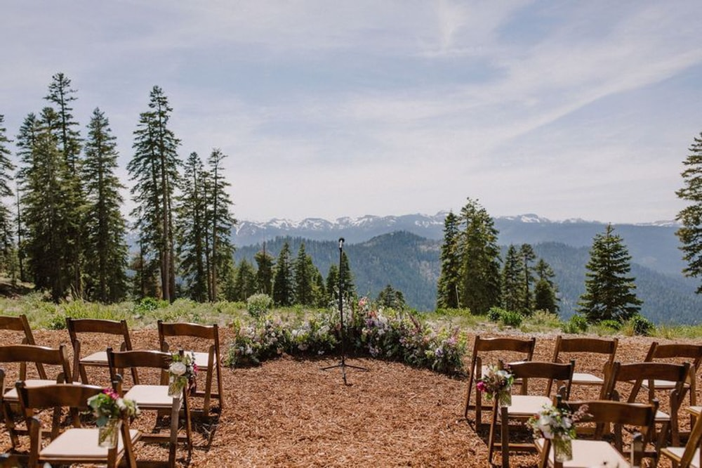The top of Northstar California Resort, an outdoor wedding venue in Lake Tahoe.