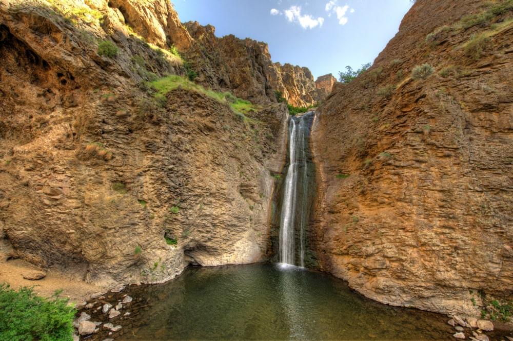 Jump Creek Falls, a waterfall wedding venue in Idaho.