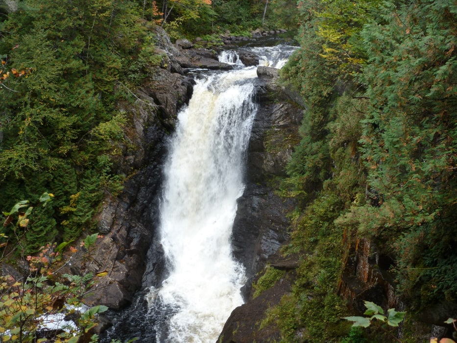 Moxie Falls, a waterfall wedding venue in Maine.