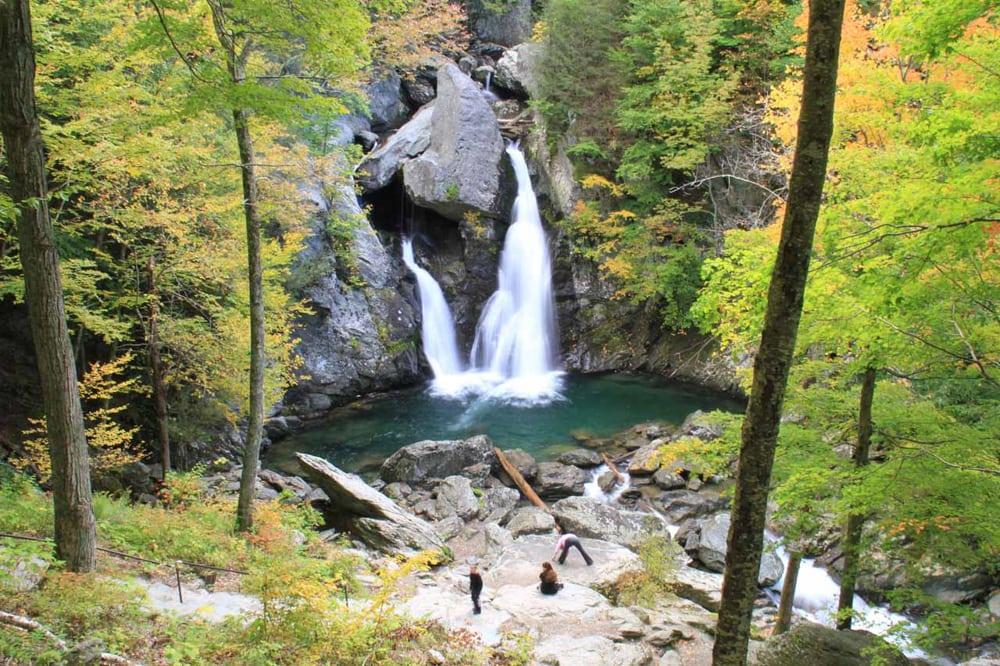 Bash Bish Falls, a waterfall in Massachusetts.