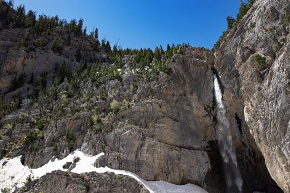 Big Falls, a seasonal waterfall in Nevada.