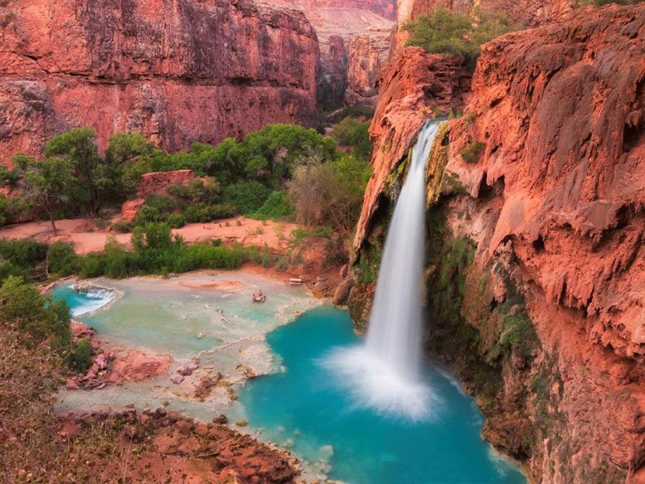 Havasu Falls in Arizona, a waterfall wedding venue.