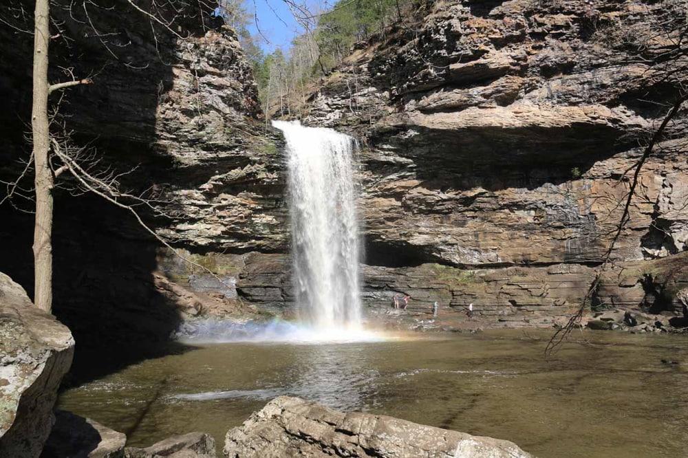 Cedar Falls, a waterfall wedding venue in Arkansas.
