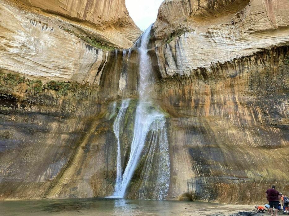 Lower Calf Creek Falls, a waterfall in Utah.