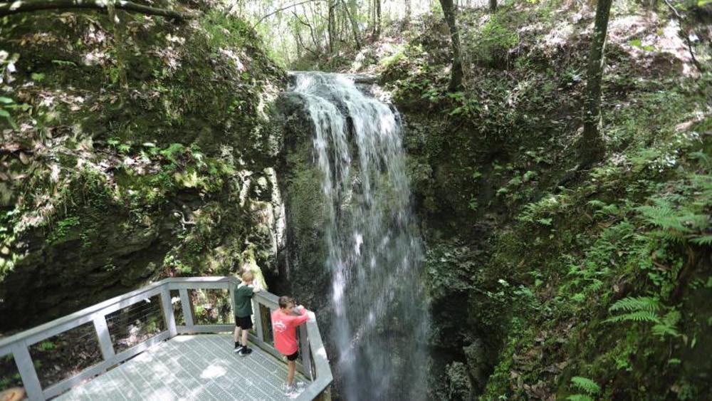 Falling Waters, a waterfall in Florida.