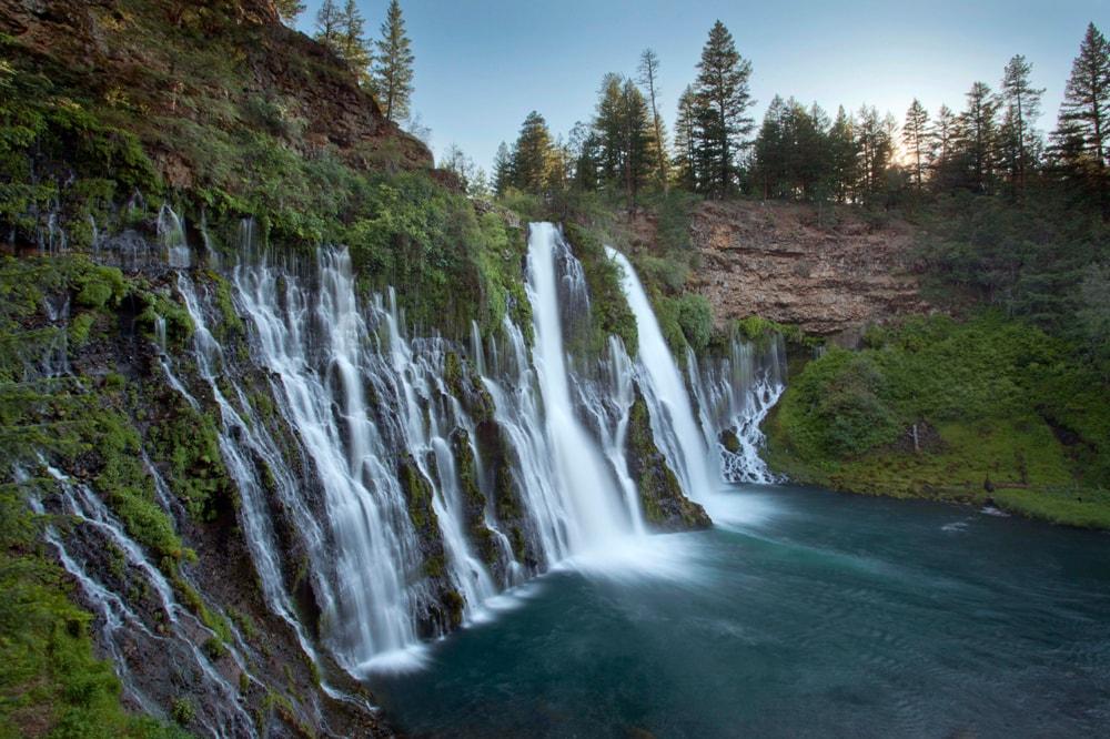 Burney Falls, a waterfall in California.