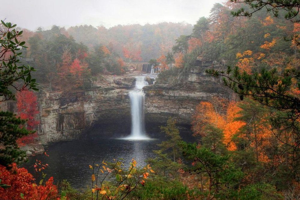 DeSoto Falls, a waterfall wedding venue in Alabama.