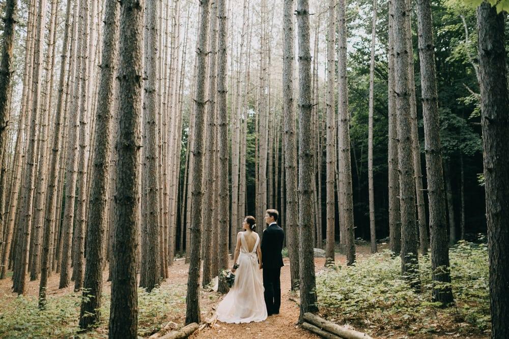 The Roxbury Barn & Estate, a forest wedding venue in New York.
