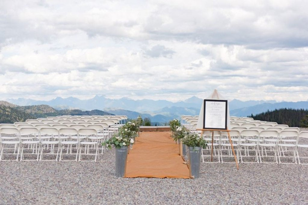 Whitefish Mountain Resort, a mountain wedding venue in Montana.