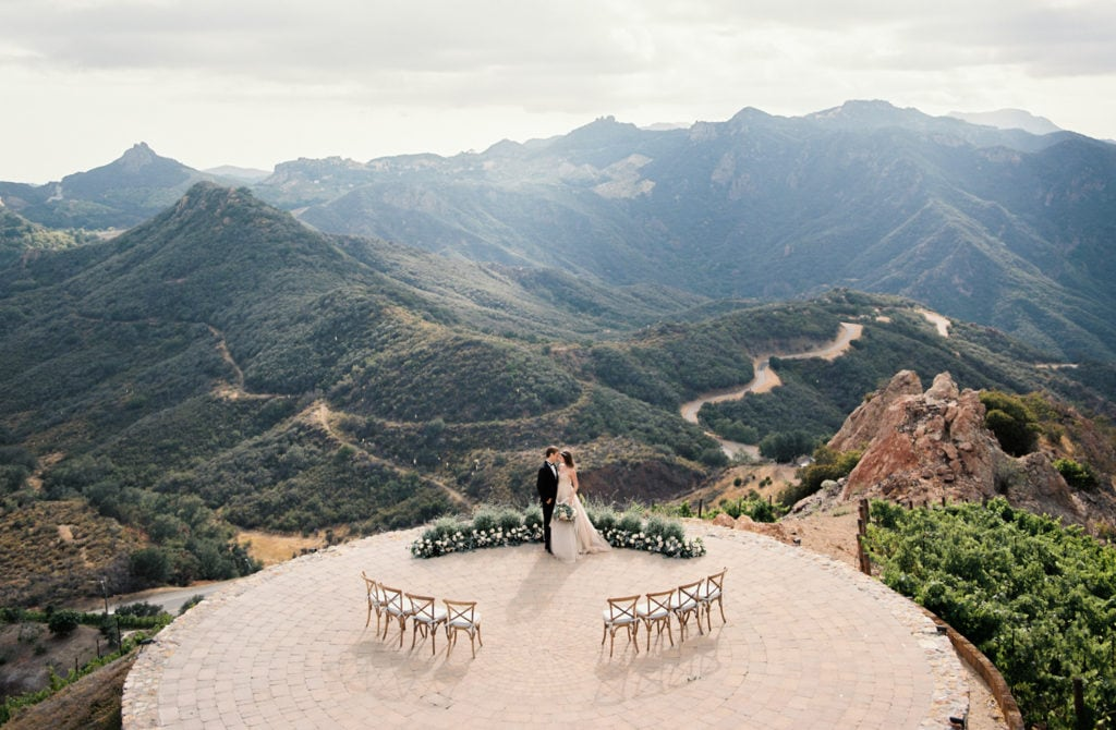 A mountain wedding venue in Malibu, California.