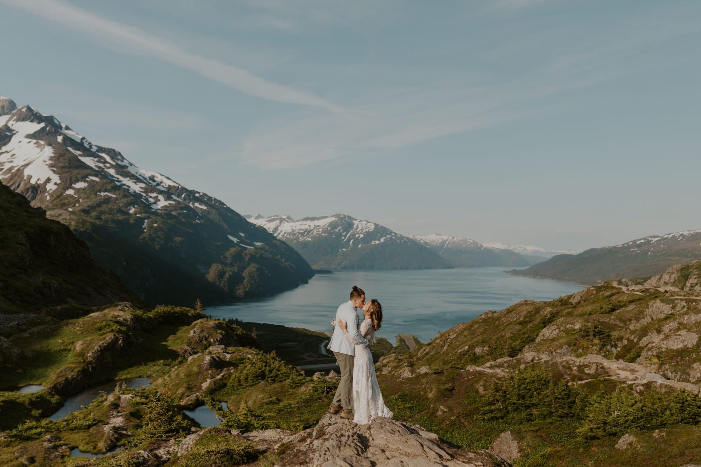 A mountain elopement in Alaska.