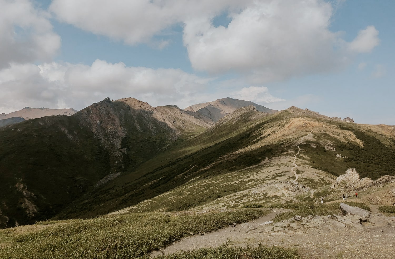 A mountain trail in Alaska.