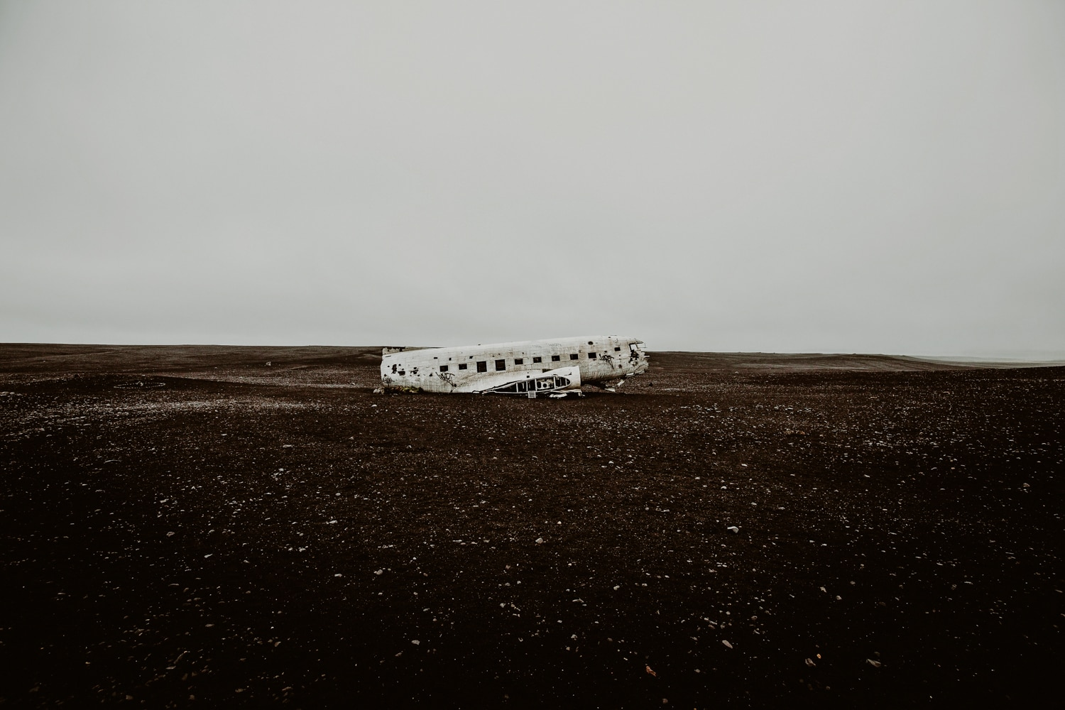 Plane crash in Iceland.