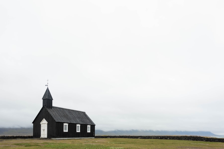The Black Church of Budir, a wedding venue in Iceland.
