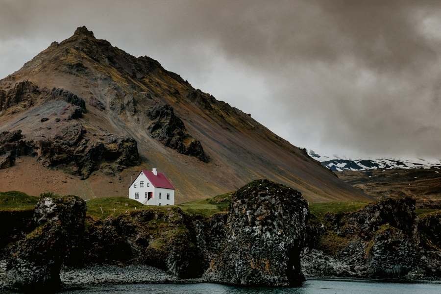 Wedding venue in Iceland in Westfjords.