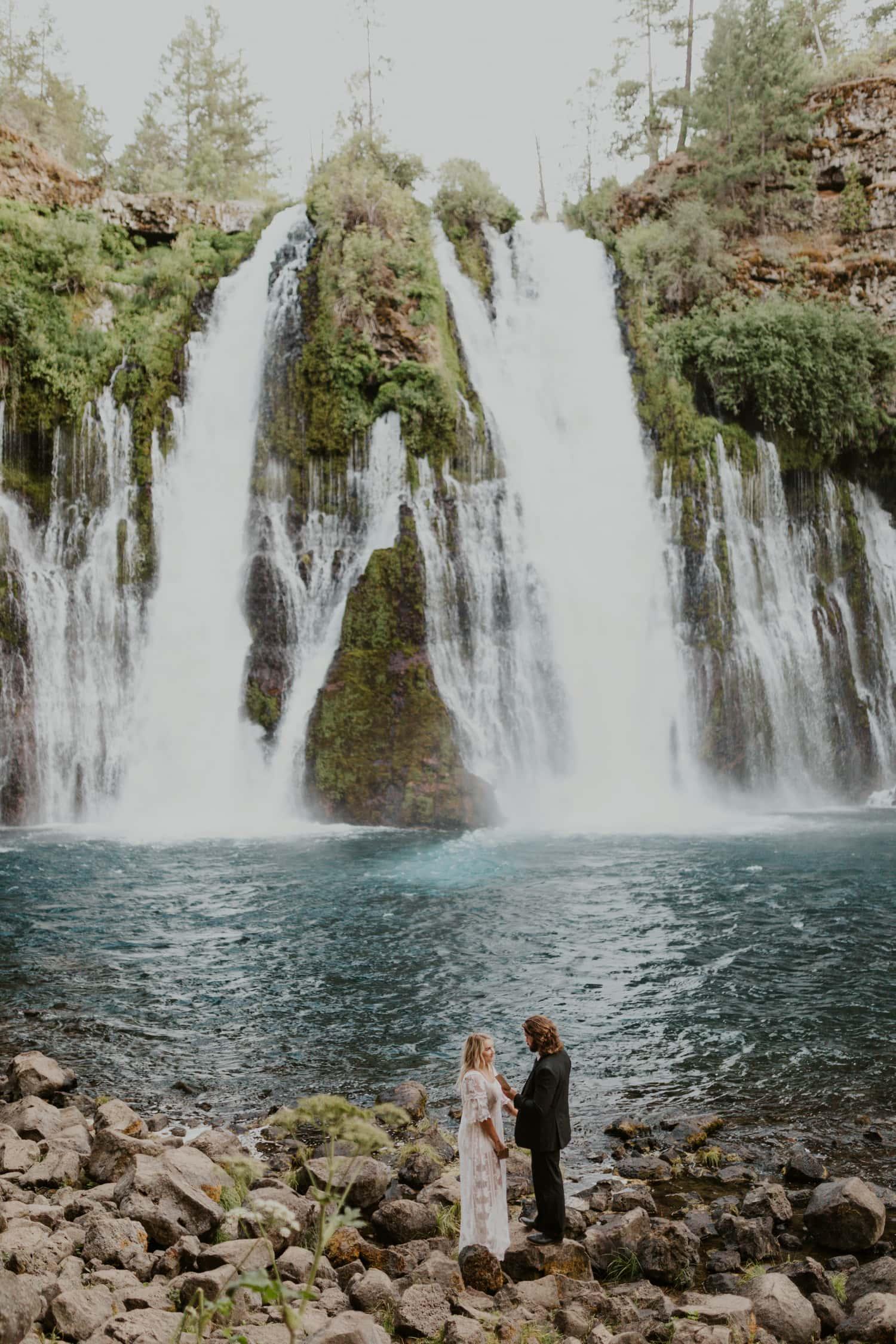 An elopement at Burney Falls.