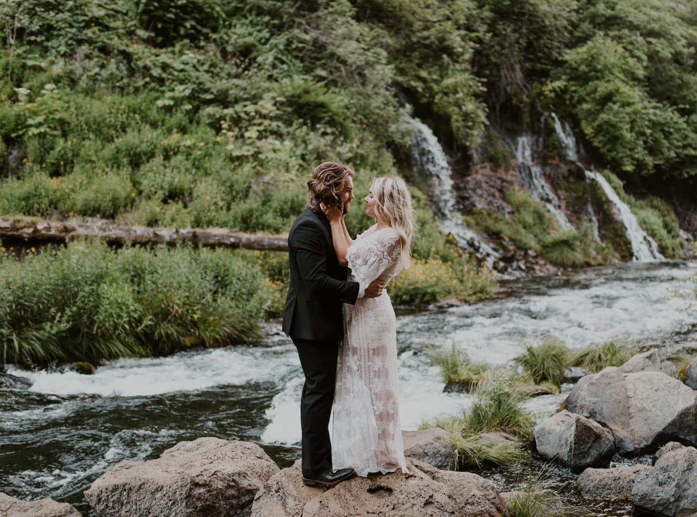 Burney Falls elopement.
