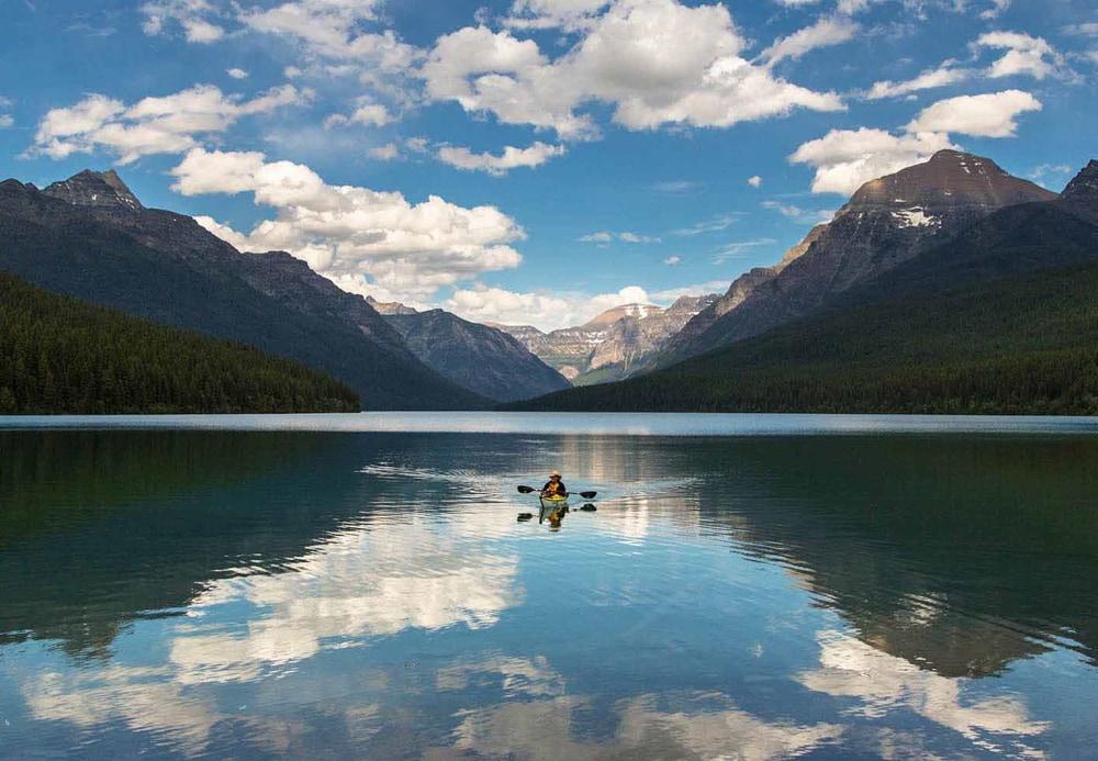 Bowman Lake, a wedding venue in Glacier National Park.