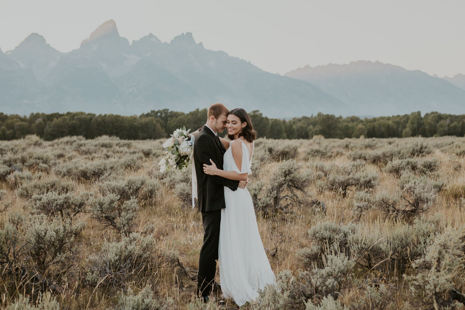 A wedding in Grand Teton National Park.