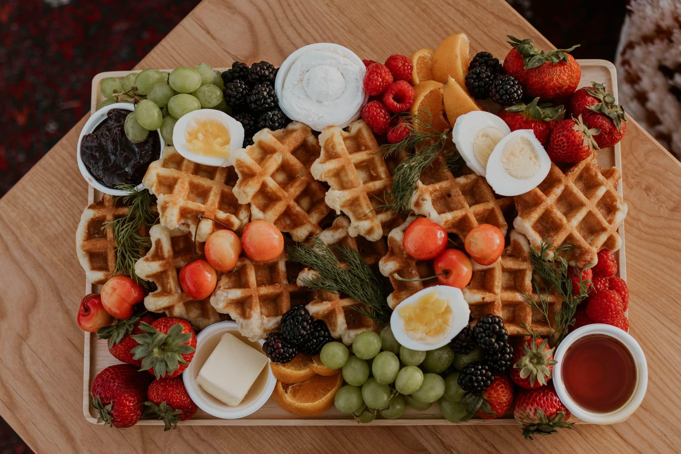 A breakfast charcuterie board.