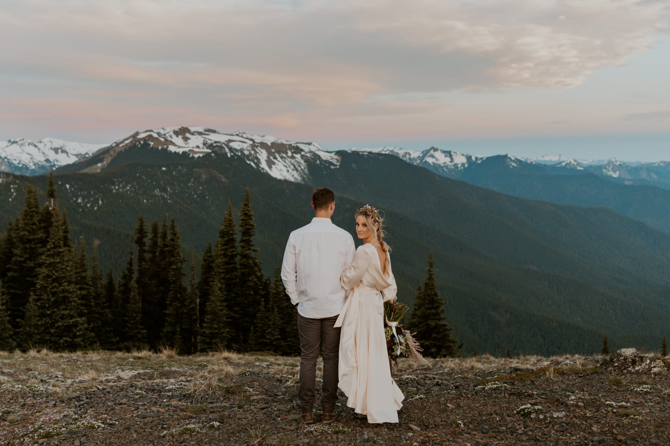 A couple eloping at Hurricane Ridge.