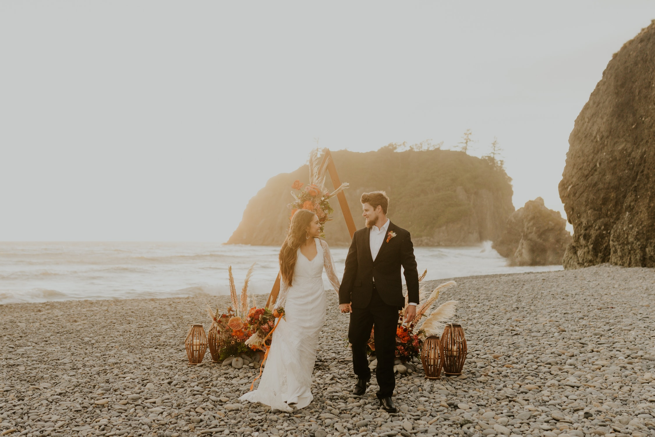 Ruby Beach elopement day.